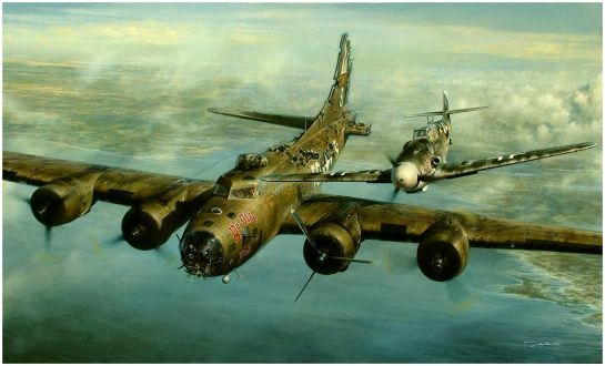 B-17F & Bf 109G-6: Let's start this year with some hope.