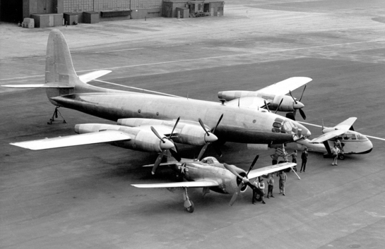 Republic XF-12 Rainbow,P-47N Thunderbolt and RC-1 Thunderbolt Amphibian:1 Winner and 2 Losers.