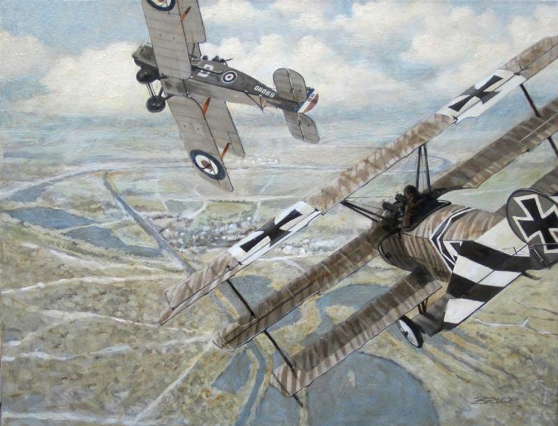 Fokker Dr.1 vs Bristol F.2b: Lucky Break