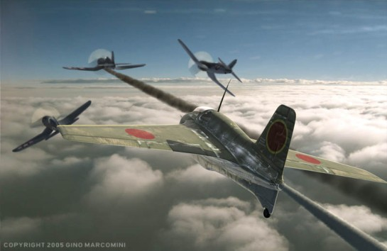 Mitsubishi J8M Shūsui vs Corsair: Illusory Sword.