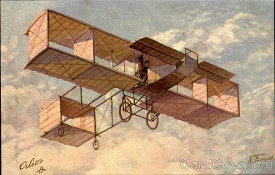 Voisin Biplane: Flyin' Squares.