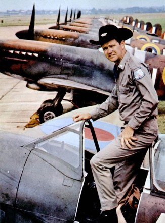 Supermarine Spitfire: No Texan without a cowboy hat.