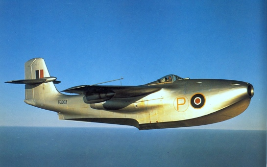 Saunders-Roe SR.A/1: Not the shapeliest of fighters.