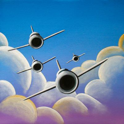 Jet Quartet: Circles in the sky.