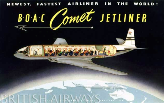 de Havilland Comet 1: Over the Top of the World....for a moment.