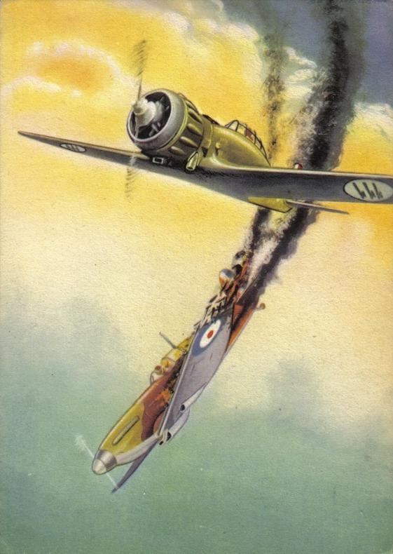 M.C.200 Saetta vs Spitfire:  Settin' some Fire.