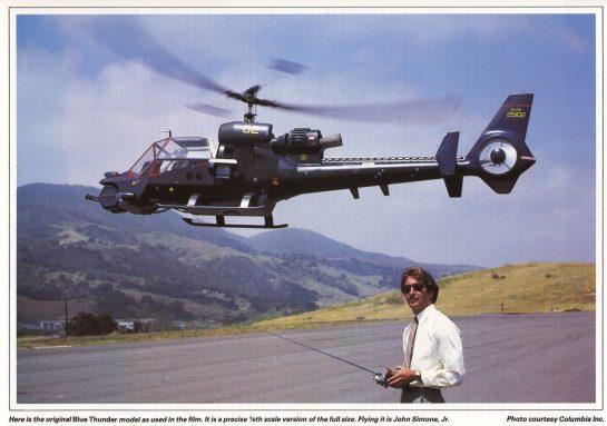 1984-03 - Blue thunder original film model