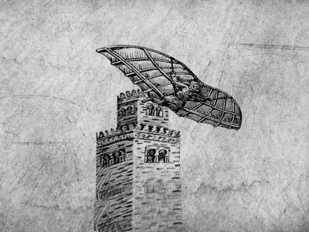 Risultati immagini per Nel 852 Abbas Ibn Firnás